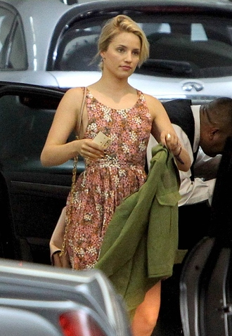 dress dianna agron glee