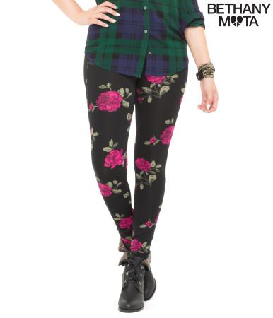 Waisted rose leggings