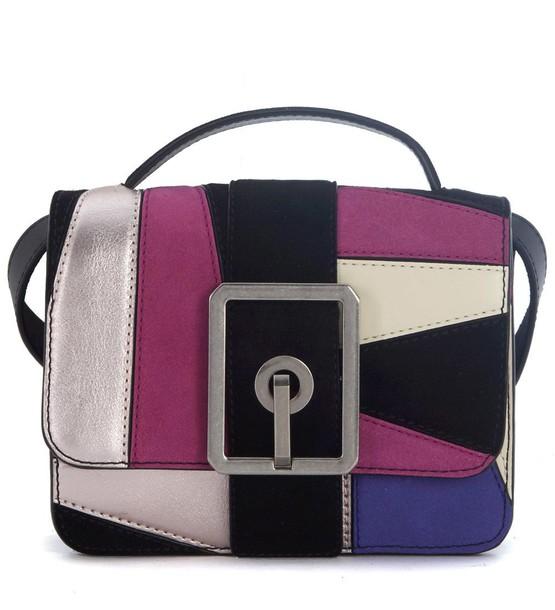 Rebecca Minkoff handbag leather suede multicolor bag