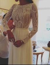 dress,lace,white dress,wedding dress,wedding clothes,lace wedding dress,2016 wedding dresses,princess wedding dresses,a-line wedding dresses,beach wedding dress,bridal gown,lace bridal gowns,bridal gowns 2016