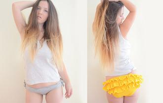 underwear ruffle panties panties knickers bikini bikini bottoms cotton pants
