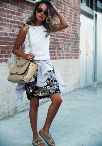 shoes skirt blogger sincerely jules