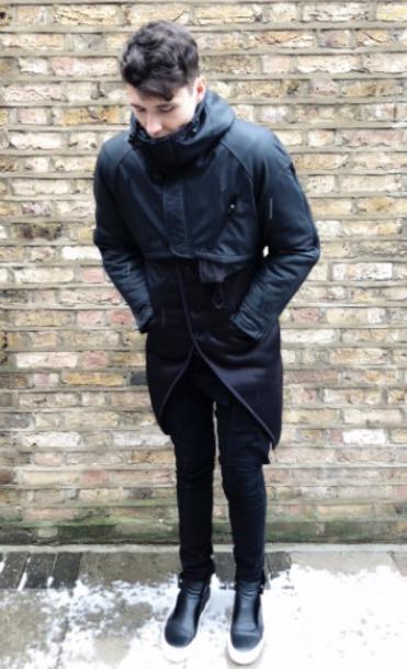 coat daniel howell winter coat dan howell dan howells wardrobe