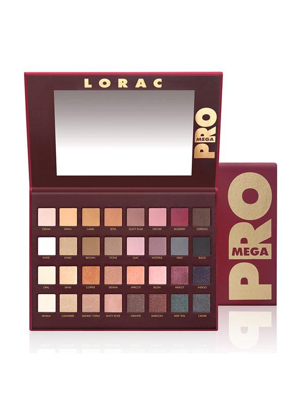 LORAC Mega PRO Palette. 32 Eye shadow shades in one palette.