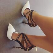 shoes,pumps,heels,white,straps,cool,amazing,sexy,women,high heels,stilettos,leopard print,leopard print high heels,strappy heels,strappy shoes