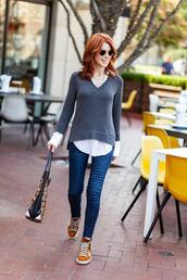 themiddlepage,blogger,top,jeans,shoes,bag