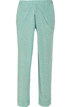 Printed voile tapered pants | Vanessa Bruno Athé | THE OUTNET