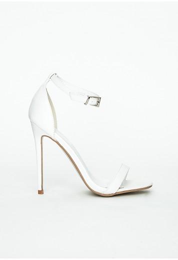 Clara white strappy sandals