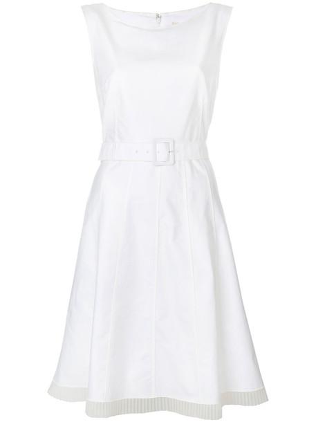 Marc Jacobs dress pleated women nude cotton silk
