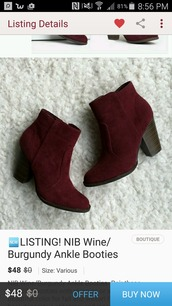 shoes,ankle boots,burgundy,boots