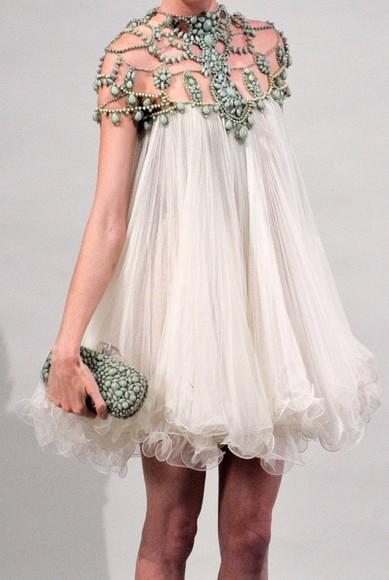 dress white dress vintage boho