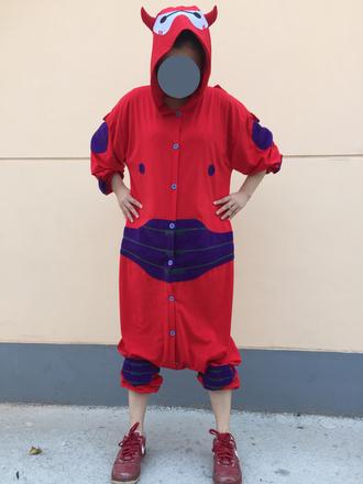 pajamas baymax costumes cosplay