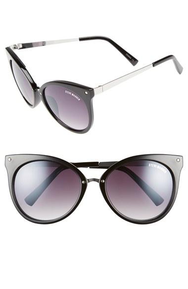 Steve Madden 55mm Cat Eye Sunglasses