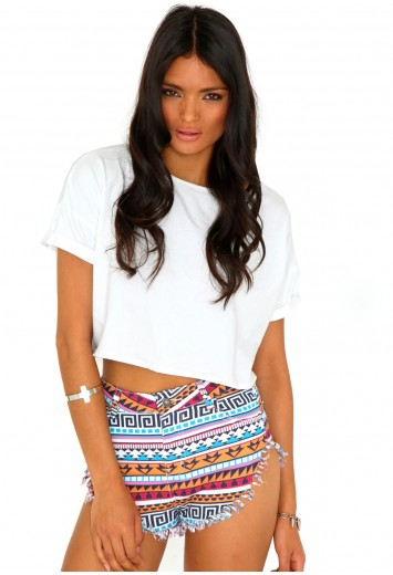 Dawn Aztec Hot Pants - Shorts - Missguided | Ireland