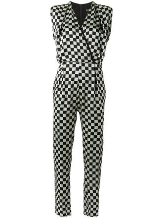 jumpsuit women black silk