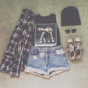 tank top,hipster,indie,grunge,soft grunge,High waisted shorts,flannel,black,converse,tumblr,tumblr clothes,shirt,shorts,denim shorts,shoes,pajamas,pants,t-shirt,jacket,bennie,beanie,crewneck,chuck taylor all stars,sunglasses,muscle tee,style,checkerd,denim,grunge shorts,top,star wars,graphic tee,crop tops,blouse,star wars t-shirt,pale,black tank top,flannel shirt,outfit,rock