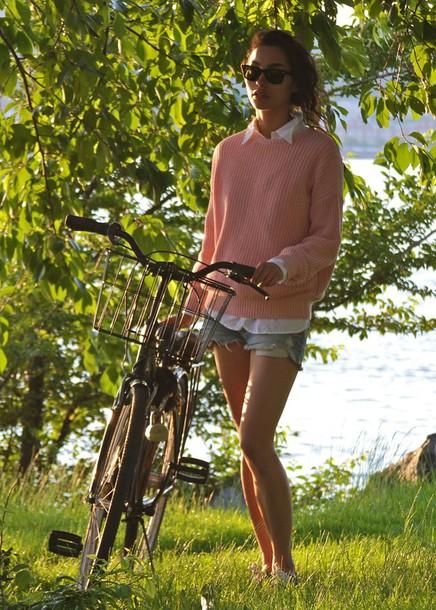 sweat the style sunglasses shirt sweater shorts shoes