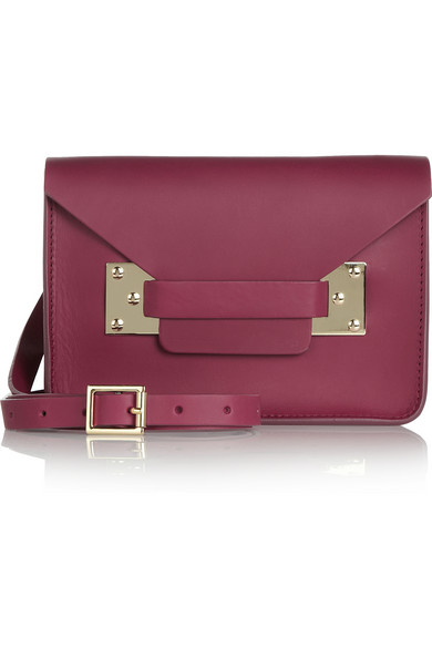 envelope mini leather shoulder bag