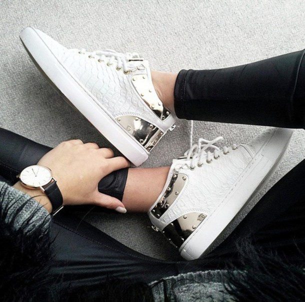 shoes metallic shoes metallic white shoes print weheartit texture