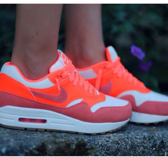 shoes mango pink nike air max orange brand