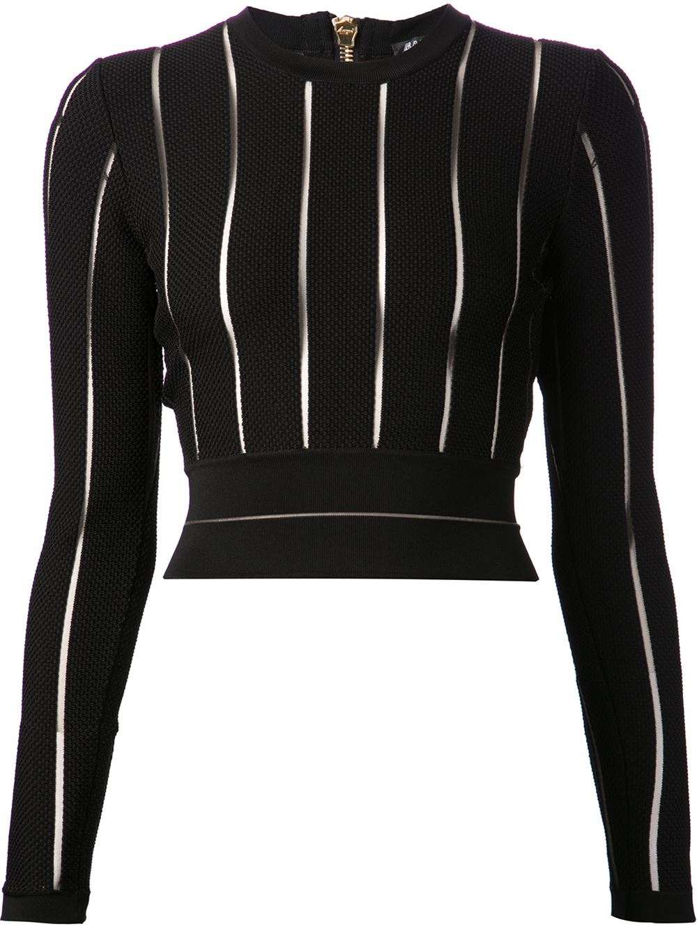 9d6cade18e Balmain Fitted Crop Top - Patron Of The New - Farfetch.com