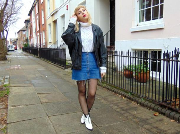 the velvet black grunge blogger denim skirt