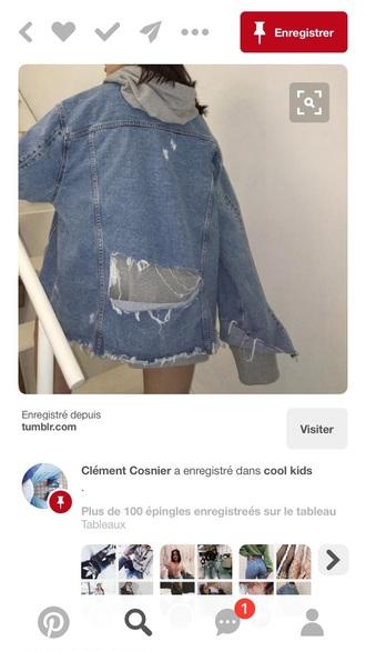 jacket denim jacket tumblr