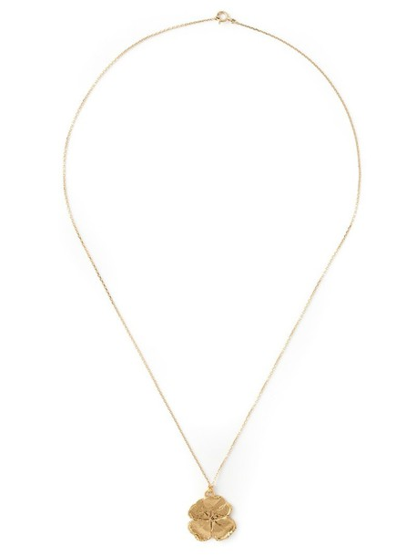 AURELIE BIDERMANN mini women necklace gold grey metallic jewels