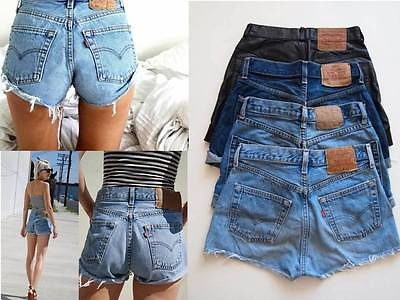 Vintage High Waisted Levis 501 Cut Off Shorts Various Colours Size 12 | eBay