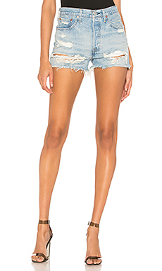 LEVI'S 501 High Rise Short in Fault Line from Revolve.com