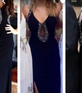 dress black prom dress prom formal dress black sequin hole elegant dress evening gown