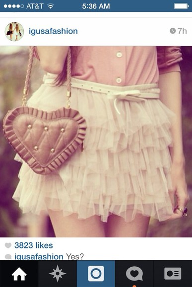 skirt pastel pink shirt cute cute skirt pink skirt pale pale pink pastel pink ruffles ruffled skirt ruffled adorable love pink