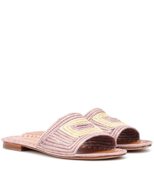 Carrie Forbes Raffia sandals in pink