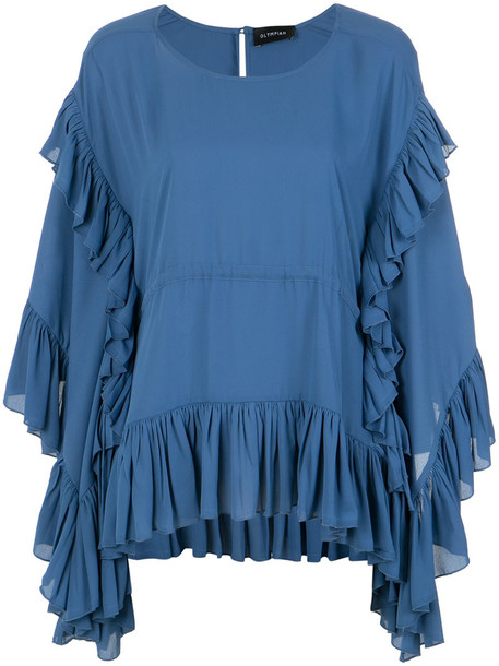 Olympiah blouse women blue top