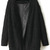 Black Long Sleeve Loose Faux Fur Coat - Sheinside.com