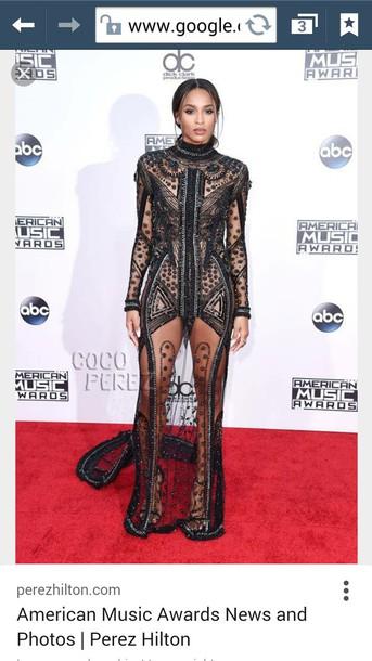 dress black dress American Music Awards red carpet dress gown ciara