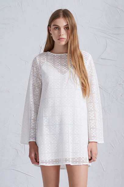 The fifth dress long sleeve dress long white