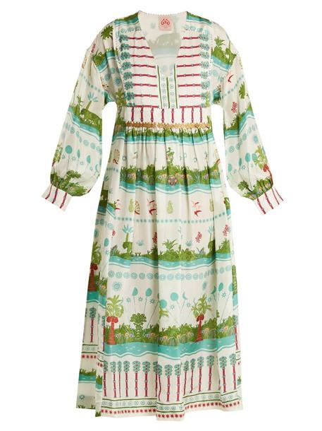 LE SIRENUSE, POSITANO dress silk dress print silk white