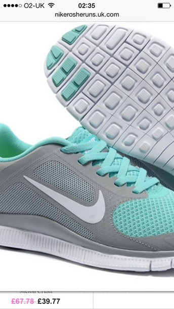 shoes nike turquoise and white