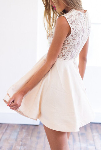 dress mynystyle lace dress skater skirt prom gown girly chic