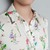 Metal Detail Collar Tips Garden Flower Print Basic Blouse Shirt Top s M L TFF | eBay