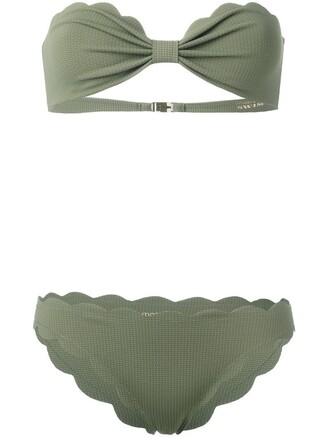 bikini strapless women spandex green swimwear