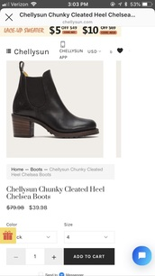 shoes,chunky cleated heel chelsea boot