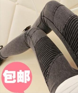 jeans slim grey biker jeans gray edgy pants grey jeans skinny jeans cute trendy