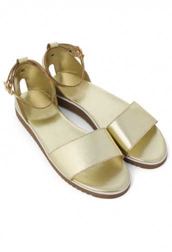 Refreshing New Rome Gold Sandals - Retro, Indie and Unique Fashion