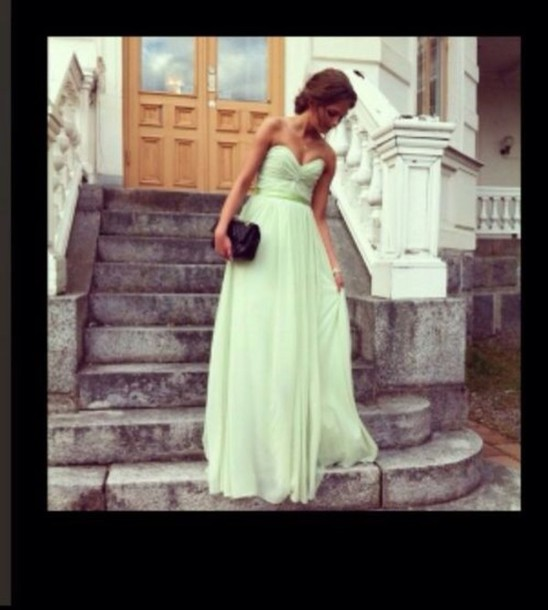 dress mint dress instagram we heart it long prom dress edit tags