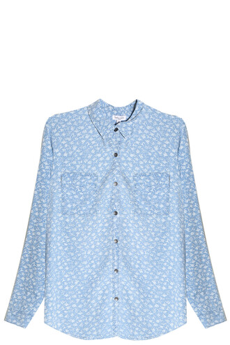 shirt floral shirt floral blue top