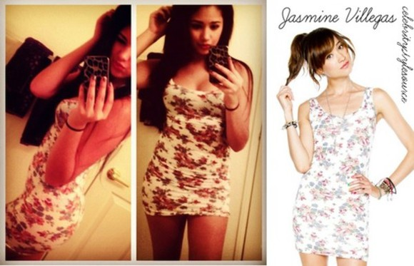 dress floral print dress white jasmine villegas brandy melville white dress