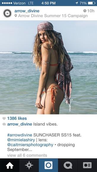 scarf summer outfits hair accessories bikini