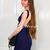 Blue Sexy Dress - Bqueen Dark Blue Halter Bandage | UsTrendy